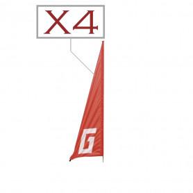 Lot de 4 drapeaux Turn Flag 1500 Graupner pour drones Racer
