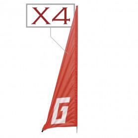 Lot de 4 drapeaux Turn Flag 3000 Graupner pour drones Racer