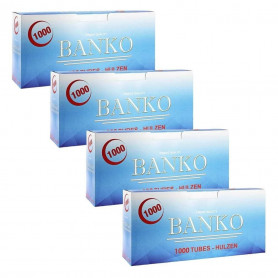 Pack de 4 boites de tubes à cigarettes Banko