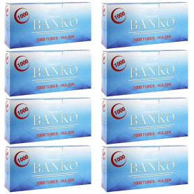 Pack de 8 boites de tubes à cigarettes Banko