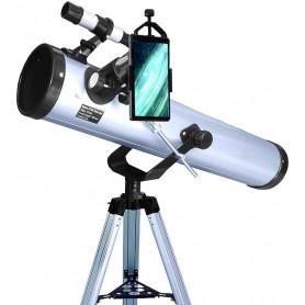 Pack complet télescope XXL Astrophotographie 700-76 avec Lunette astronomique Zoom et guide débutant