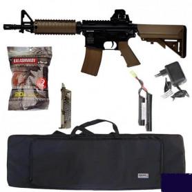 Pack Eco Airsoft Colt M4A1 CQB M4 M16 AEG + Billes + Speedloader + Housse de Transport