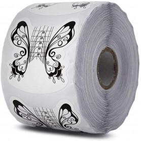 Chablons Papillon Noir Blanc Taille de 1 à 5 pour ongle large