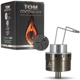 Pack Foyer chauffe charbon Carbo One + Charbon à chicha Tom Cococha Silver