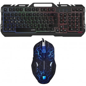Pack Clavier Souris Gamer ORIOS MECA FULL METAL WASDKEY compatible PS4, PS3 et Xbox One
