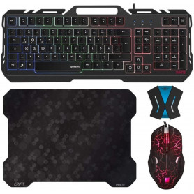 Pack Clavier Souris Tapis Gamer ORIOS WASDKEY + Convertisseur Switch, PS4, PS3 et Xbox One