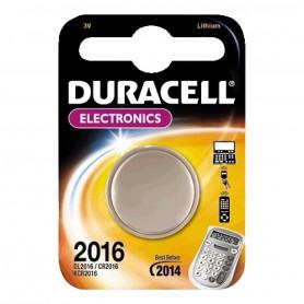 Pile Duracell Lithium CR2016 pour Chronomètre, Calculatrice, Télécommande et plus