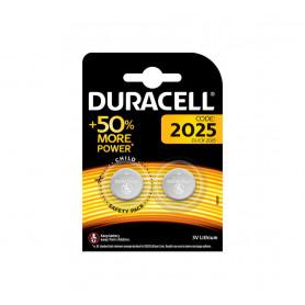 Pile Duracell Lithium CR2025 pour Prothèse Auditive, Montre, Télécommande et Calculatrice