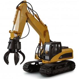Excavateur Engin de Chantier Grue Grappin RC V1 1:14 2,4 GHZ