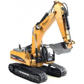 Excavateur Engin de Terrassement Full Metal 3 en 1 RC V3 1:14 2,4 GHZ Jaune