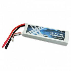 Batterie LiPo 3S AM Racing 11.1V 5000mAh 40C pour Bateau Alpha et Voiture RC