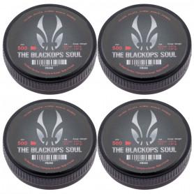 Boite de 500 Plombs 4.5 mm Black Ops Soul Tête pointue par 4
