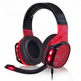 Casque Gamer EH60 Rouge Skull Switch PS5 PS4 XB1 X XBox One S et PC
