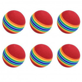 6 Balles de Golf d'entraînement en Mousse EVA Souple