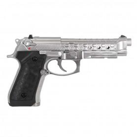 Réplique Airsoft Pistolet WE M92 HEXCUT CHROME GBB Style BERETTA