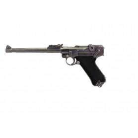 Pistolet à Billes WE Luger à canon long Gaz Semi Auto P08