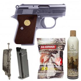 Pack Réplique Airsoft Colt Baby GBB + Chargeur + Gaz + Billes