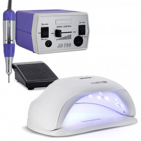 Kit Manucure Lampe LED UV 54 W + Ponceuse Professionnelle 30000 Trs