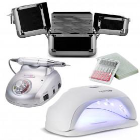 Kit Manucure Lampe LED UV 54 W + Ponceuse Pro Master 2000 + Mallette