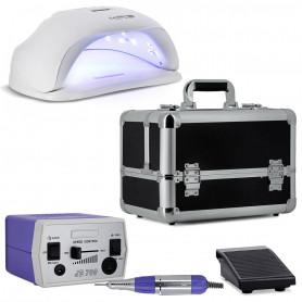 Kit Manucure Lampe UV LED 54 W + Mallette Esthétique + Ponceuse Ongle Pro