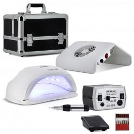 Kit Manucure XXL N3 Lampe LED UV + Ponceuse Pro + Aspirateur + Mallette