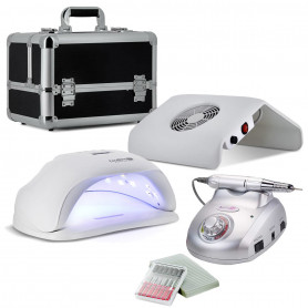 Kit Manucure XXL N4 Lampe LED 54 W + Ponceuse Pro + Aspirateur + Mallette