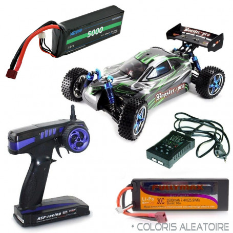 Pack Voiture RC Booster Pro électrique Brushless RTR 3S + Chargeur