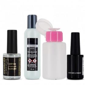 Pack Manucure Cleaner + Twin Coat + Primer + Flacon Pompe pour vernis semi-permanent