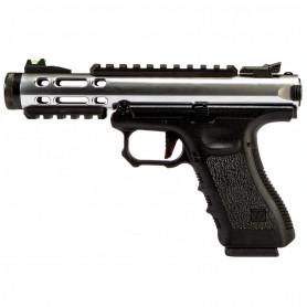 Réplique Airsoft Pistolet Galaxy GBB WE G-SERIES Argent
