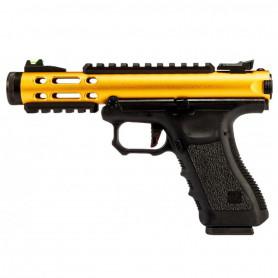 Réplique Airsoft Pistolet Galaxy GBB WE G-SERIES Doré