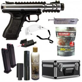 Pack Pistolet Airsoft Galaxy G-SERIES WE SLV + Spitfire + Billes + Gaz GBB + Speedloader