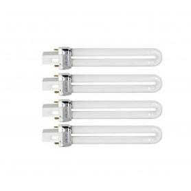 Lot de 4 Néons 9 Watts, Ampoules W ou L pour Lampe UV Modèle L