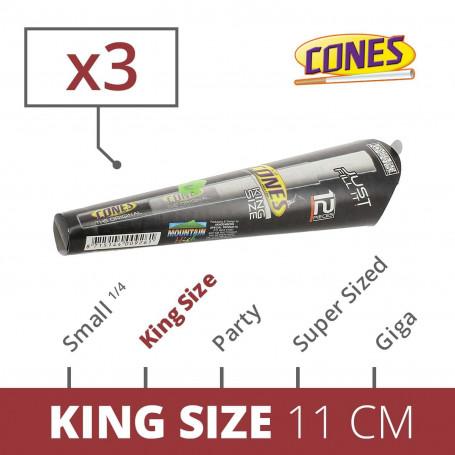 Blister de 3 feuilles 11cm King Size déjà roulées en cones pour JoyBox