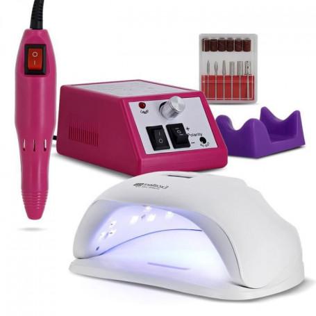 Kit manucure électrique avec lampe UV et ponceuse pour ongles