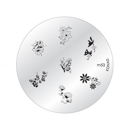Plaque KONAD M53 Officielle pour le STAMPING NAIL ART