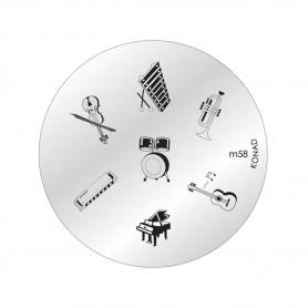 Plaque KONAD M58 Officielle pour le STAMPING NAIL ART
