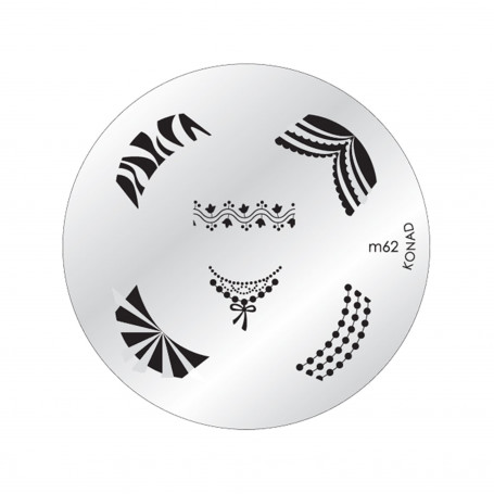 Plaque KONAD M62 Officielle pour le STAMPING NAIL ART