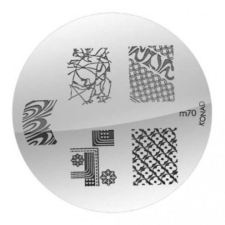 Plaque KONAD M70 Officielle pour le STAMPING NAIL ART