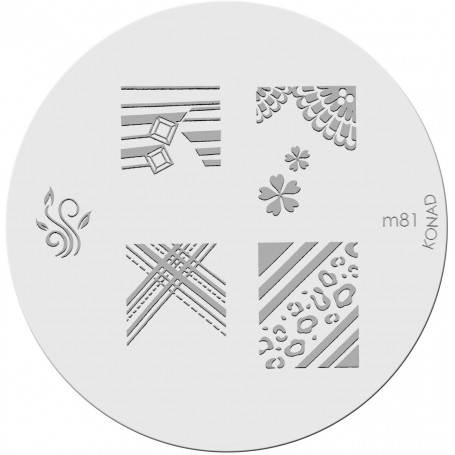 Plaque KONAD M81 Officielle pour le STAMPING NAIL ART