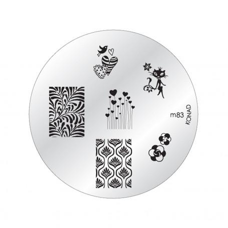 Plaque KONAD - Pochoir M83 - STAMPING NAIL ART