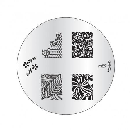 Plaque KONAD M89 Officielle pour le STAMPING NAIL ART