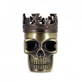 Grinder Skull Tête de mort 3 parties Or