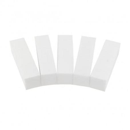 Lot de 5 blocs polissoirs blanc pour faux ongles