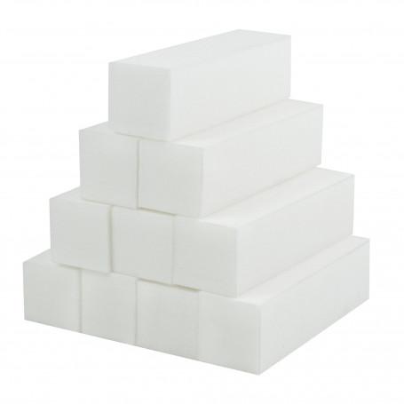 Lot de 10 buffer blanc pour ongle