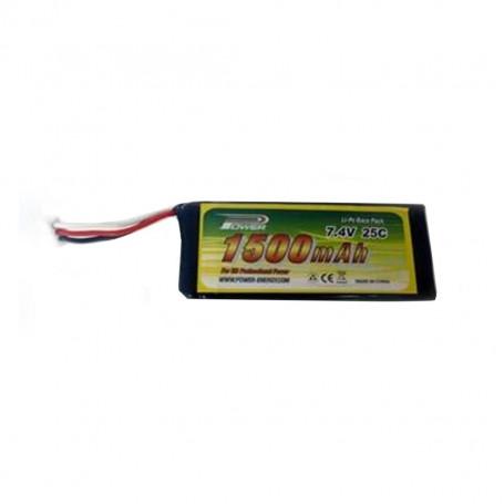 Batterie 1500mAh 2S 7.4V pour hélicoptère FPV SKY SPY