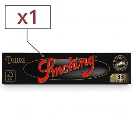 Carnet de Feuilles Slim Smoking Black Deluxe