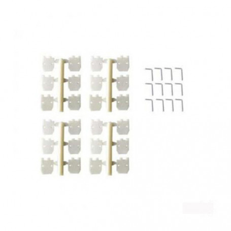 Charnières Plates 11,2x11,2mm avec Axe déverrouillable pour Avion RC, Sachet de 4 pièces