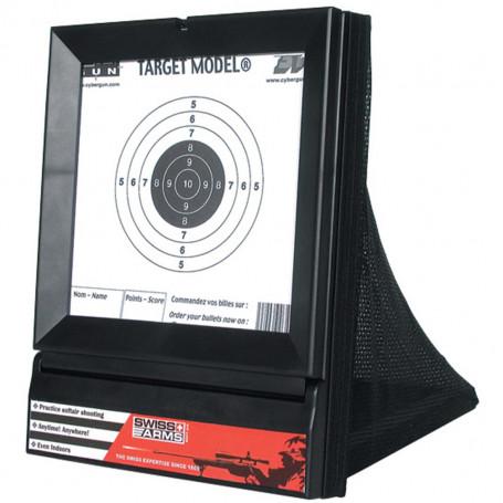 603404, Porte Cible Airsoft avec Filet et cibles d'entrainement pour s'entrainer au tir