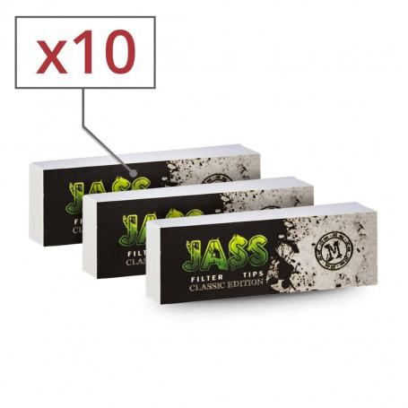 Carnet de 50 filtres à cigarettes en carton Jass 20mm par 10