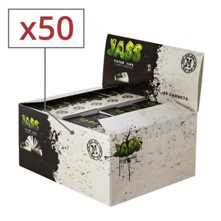 Carnet de 50 filtres à cigarettes en carton Jass 20mm par 50
